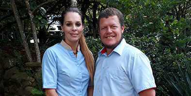 Meet the management couple - Cayley Mountain Resort